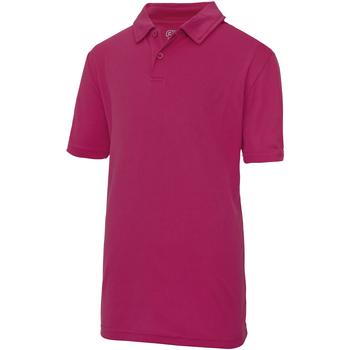 Vêtements Enfant Polos manches courtes Just Cool Plain Rose