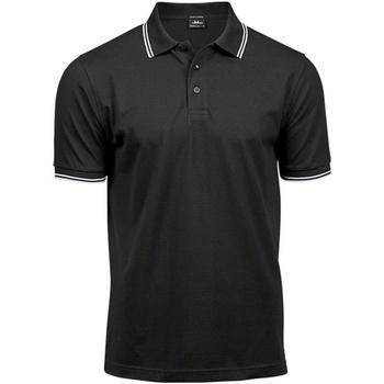 Vêtements Homme Polos manches courtes Tee Jays Stripe Noir / blanc