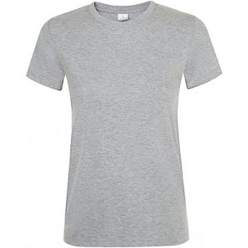 Vêtements Femme T-shirts manches courtes Sols Regent Gris marne