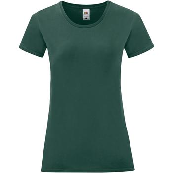 Vêtements Femme T-shirts manches courtes Fruit Of The Loom Iconic Vert foncé