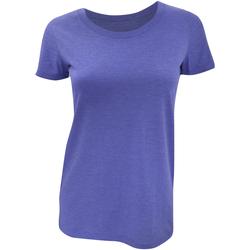 Vêtements Femme T-shirts manches courtes Bella + Canvas Triblend Bleu