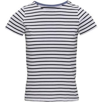 Vêtements Femme T-shirts manches courtes Toutes les chaussures femme Mariniere Blanc / bleu marine