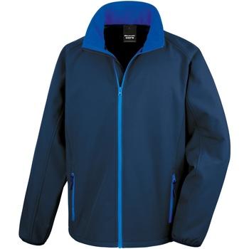 Vêtements Homme Blousons Result R231M Noir/Bleu roi