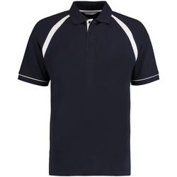 Vêtements Homme Polos manches courtes Kustom Kit KK615 Bleu marine/Blanc