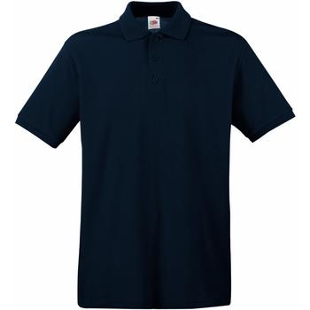 Vêtements Homme Polos manches courtes Fruit Of The Loom 63218 Bleu marine foncé