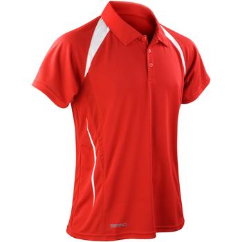 Vêtements Homme Polos manches courtes Spiro Performance Rouge/Blanc
