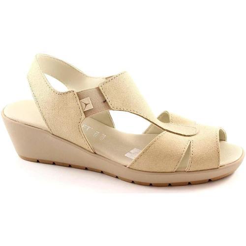 Chaussures Femme Sandales et Nu-pieds Cinzia Soft 8143 beige chaussures sandales femme confort de marche Beige