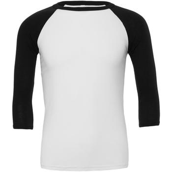 Vêtements Homme T-shirts manches courtes Bella + Canvas Baseball Blanc / noir