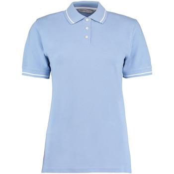 Vêtements Femme Polos manches courtes Kustom Kit Mellion Bleu clair/Blanc