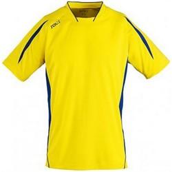 Vêtements Homme T-shirts manches courtes Sols Maracana Jaune/Bleu roi