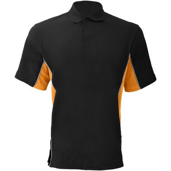 Vêtements Homme Polos manches courtes Gamegear KK475 Noir/Orange/Blanc