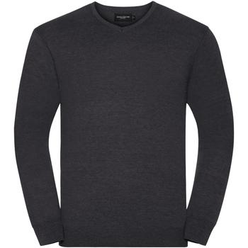 Vêtements Homme Pulls Russell Collection Pullover à col en V BC1012 Gris foncé marne