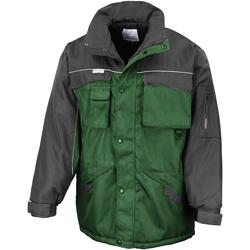 Vêtements Homme Parkas Result R72X Vert bouteille/Noir