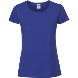 Vêtements Femme T-shirts manches courtes Fruit Of The Loom Premium Bleu roi