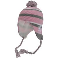 Accessoires textile Fille Bonnets Scotland Peruvian Rose/Gris/Blanc