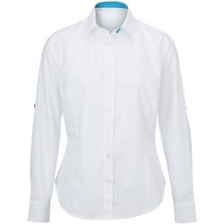 Vêtements Femme Chemises / Chemisiers Alexandra AX060 Blanc/Bleu
