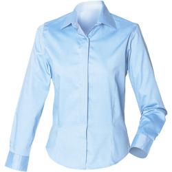 Vêtements Femme Chemises / Chemisiers Henbury Oxford Bleu clair
