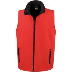 Vêtements Homme Gilets / Cardigans Result R232M Rouge / Noir