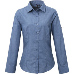 Vêtements Femme Chemises / Chemisiers Premier PR317 Bleu