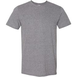 Vêtements Homme T-shirts manches courtes Gildan Soft-Style Gris chiné