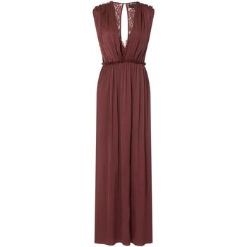 Vêtements Femme Robes longues Little Mistress Sateen Ocre rouge
