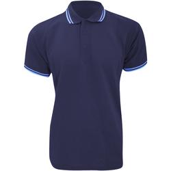 Vêtements Homme Polos manches courtes Kustom Kit KK409 Bleu marine/Bleu clair