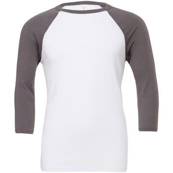 Vêtements Homme T-shirts manches courtes Bella + Canvas Baseball Blanc / gris