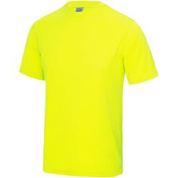 Vêtements Enfant T-shirts manches courtes Just Cool JC01J Jaune électrique
