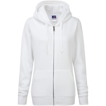 Vêtements Femme Sweats Russell Sweatshirt à capuche et fermeture zippée BC2731 Blanc