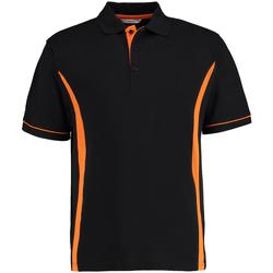 Vêtements Homme Polos manches courtes Kustom Kit Scottsdale Noir/Orange