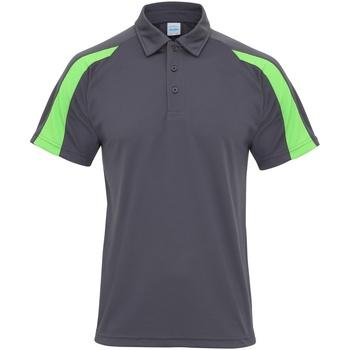 Vêtements Homme Polos manches courtes Awdis Contrast Gris foncé/Vert citron