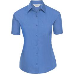 Vêtements Femme Chemises / Chemisiers Russell Chemise à Manches Courtes manches courtes BC1028 Bleu clair