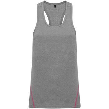 Vêtements Femme Débardeurs / T-shirts sans manche Tridri TR041 Gris chiné
