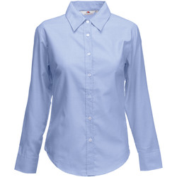 Vêtements Femme Chemises / Chemisiers Fruit Of The Loom Oxford Bleu clair