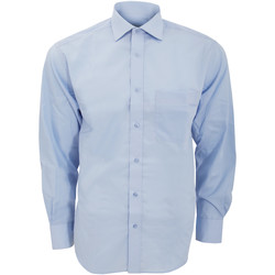 Vêtements Homme Chemises manches longues Kustom Kit Premium Bleu clair