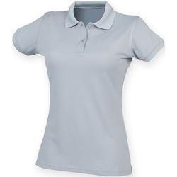 Vêtements Femme Polos manches courtes Henbury Coolplus Gris argent