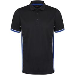Vêtements Homme Polos manches courtes Finden & Hales Contrast Bleu marine/Bleu roi/Blanc