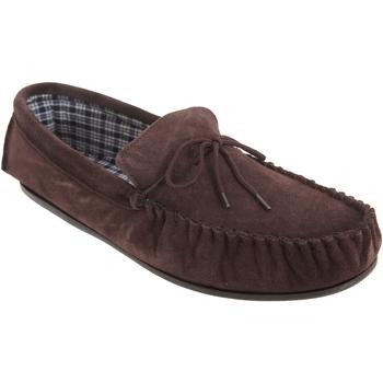 Chaussures Homme Chaussons Mokkers Moccasin Marron foncé