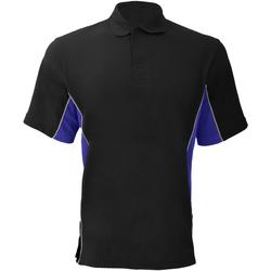 Vêtements Homme Polos manches courtes Gamegear KK475 Noir/Bleu roi/Blanc