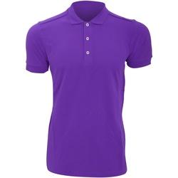 Vêtements Homme Polos manches courtes Russell Polo uni slim BC3257 Violet