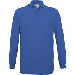 Vêtements Homme Polos manches longues B And C Safran Bleu roi