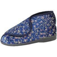 Chaussures Femme Chaussons Zedzzz Floral Bleu marine