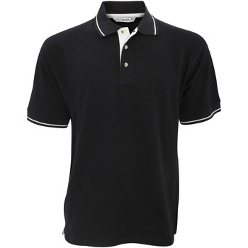 Vêtements Homme Polos manches courtes Kustom Kit KK606 Noir/Blanc