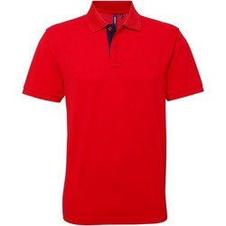 Vêtements Homme Polos manches courtes Asquith & Fox Contrast Rouge/Blanc
