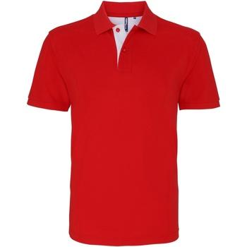 Vêtements Homme Polos manches courtes Toutes les chaussures femme Contrast Rouge/Blanc