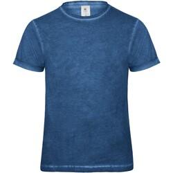 Vêtements Homme T-shirts manches courtes B And C BA801 Bleu
