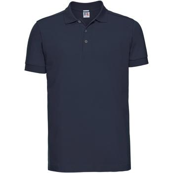 Vêtements Homme Polos manches courtes Russell Polo uni slim BC3257 Bleu marine