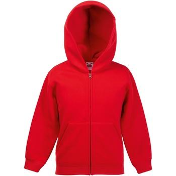 Vêtements Enfant Sweats Fruit Of The Loom Hooded Rouge