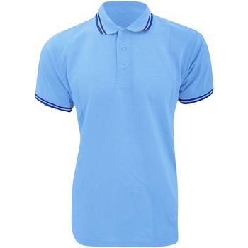 Vêtements Homme Polos manches courtes Kustom Kit KK409 Bleu clair/Bleu marine