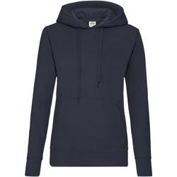Vêtements Femme Sweats Fruit Of The Loom Hooded Bleu marine profond